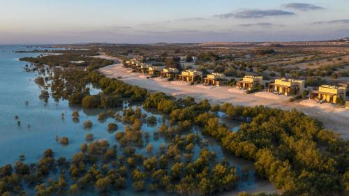 A bird's-eye view of Anantara Sir Bani Yas Island Al Yamm Villa Resort