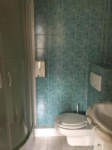 Salle de bains dans l'établissement Hôtel Le Val Du Tech