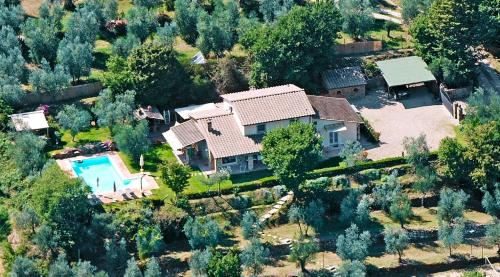 Vista aerea di LUXURY VILLA SALTWATER POOL 35min FROM CORTONA
