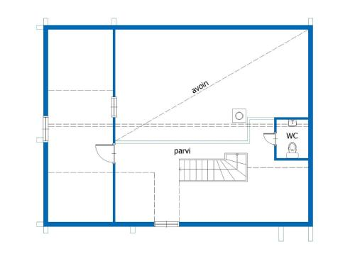 The floor plan of Holiday Home Lustola a