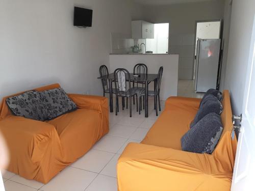 Zona de estar de Flats Ferreira Atalaia Beach