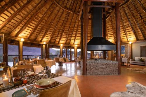 A restaurant or other place to eat at Hoodia Desert Lodge