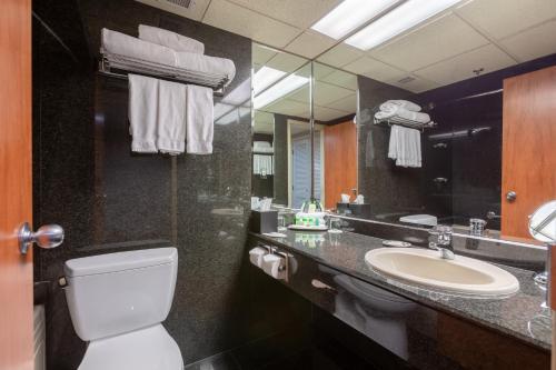 A bathroom at Banff Park Lodge
