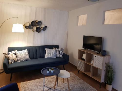 A seating area at Het Huisje Klein maar Fijn