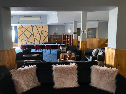 The lounge or bar area at The Menai Hotel