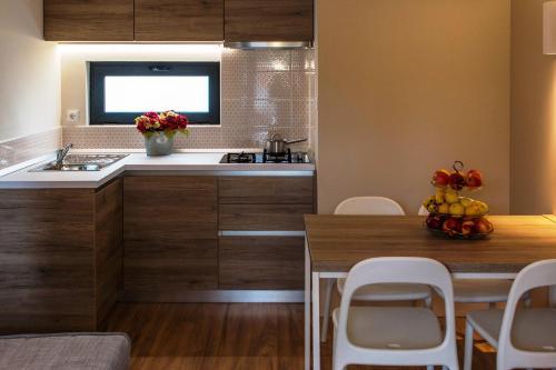 Kuchyň nebo kuchyňský kout v ubytování Plitvice Holiday Resort