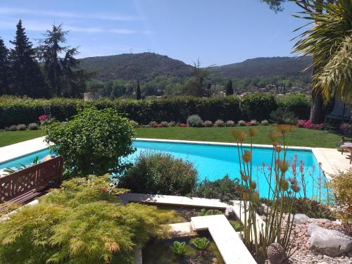 A view of the pool at La Sousta or nearby