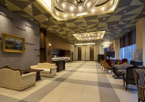 The lobby or reception area at Hotel Monterey Fukuoka