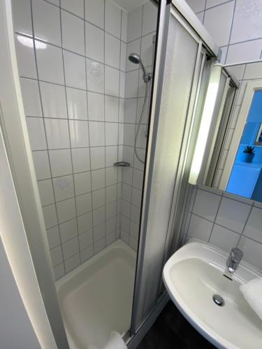A bathroom at Hotel Meeresrauschen