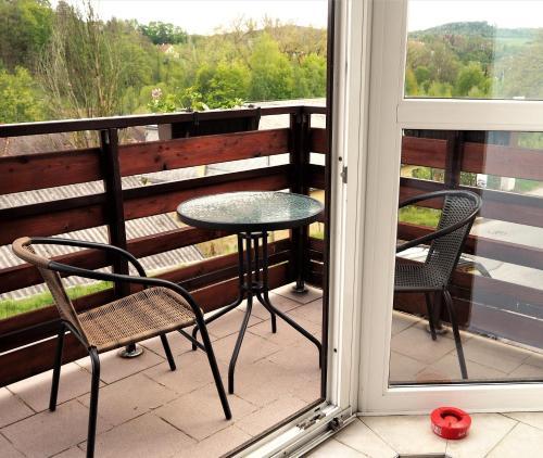A balcony or terrace at Apartmán Adam