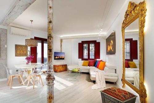 Posezení v ubytování Art Chapiz Apartments