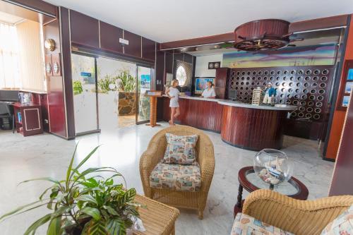 De lobby of receptie bij Maritim Playa