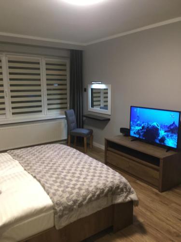 Łóżko lub łóżka w pokoju w obiekcie Apartament STUDENCKA