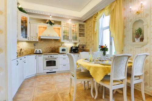 Kuchyň nebo kuchyňský kout v ubytování Apartmán Nostalgia