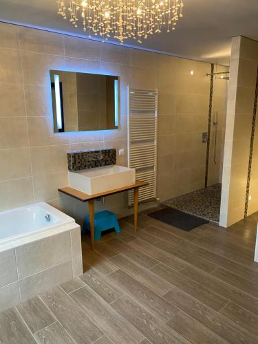 A bathroom at Maison familiale 10 Pers