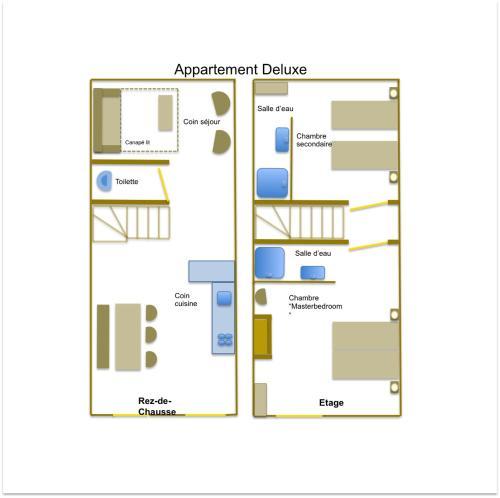 The floor plan of Appartement Saint Emilion