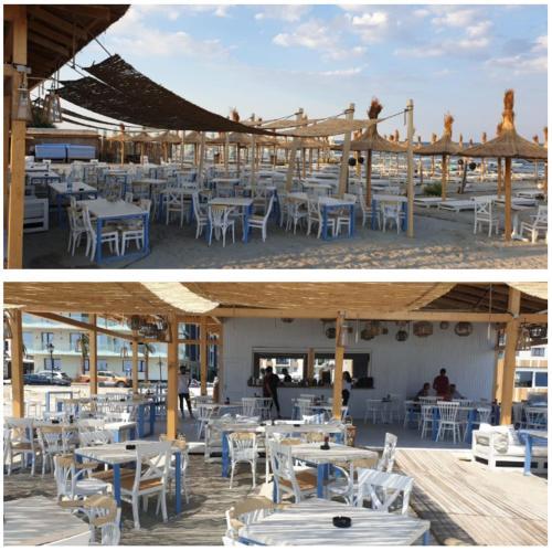 Un restaurant sau alt loc unde se poate mânca la Apartament Sea