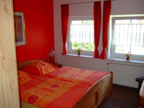 Ein Bett oder Betten in einem Zimmer der Unterkunft Huus Westerdiek