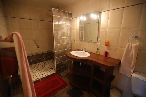 Salle de bains dans l'établissement Chambres d hotes AZKENA