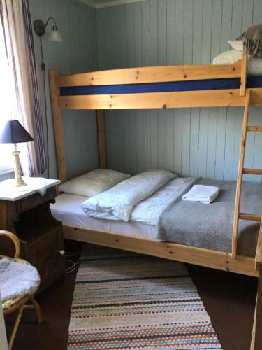 A bunk bed or bunk beds in a room at Skagakaia