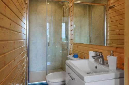 Łazienka w obiekcie Domki góralskie klapnioki
