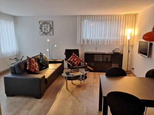 Ein Sitzbereich in der Unterkunft Apartment Gornerhaus