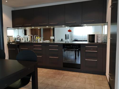 Küche/Küchenzeile in der Unterkunft Apartment Gornerhaus