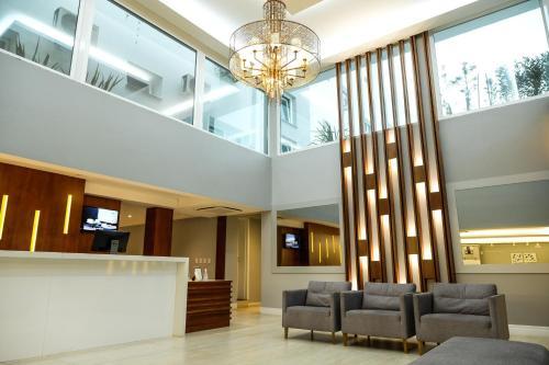 The lobby or reception area at Hotel Alvorada