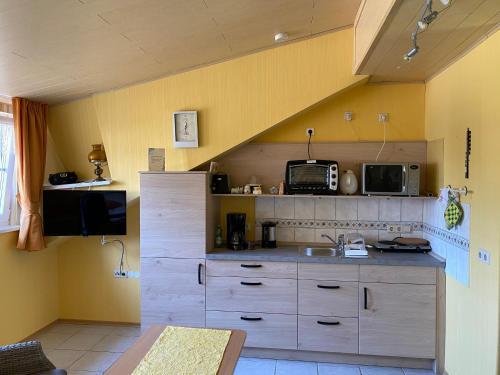 Küche/Küchenzeile in der Unterkunft Haus Simon