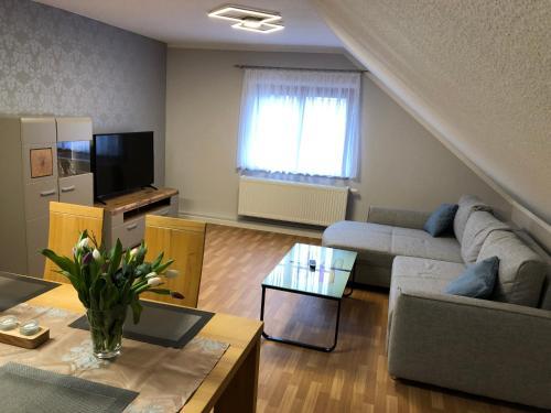 Posezení v ubytování Ferienwohnung Kleistring