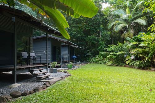 A garden outside Safari Lodge