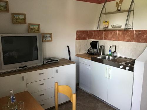 Küche/Küchenzeile in der Unterkunft Pension&Gasthaus Zschirnsteinbaude