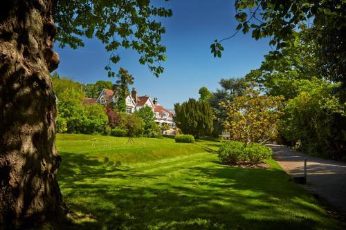A garden outside Rowhill Grange Hotel & Utopia Spa