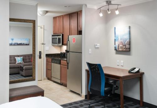 A television and/or entertainment center at TownePlace Suites Fort Worth Downtown