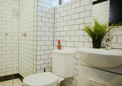 A bathroom at The Village Surry Hills