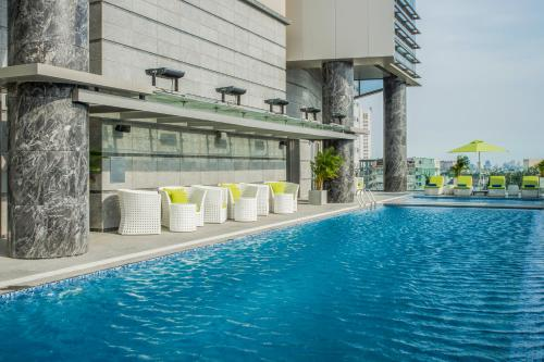 The swimming pool at or close to Pullman Saigon Centre