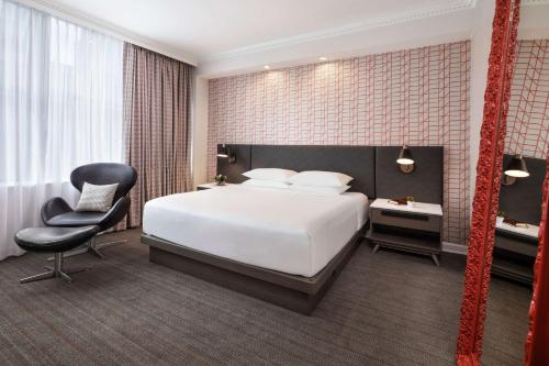 A bed or beds in a room at Hyatt Centric Downtown Minneapolis