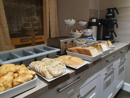 Breakfast options available to guests at The Waverley Guest House