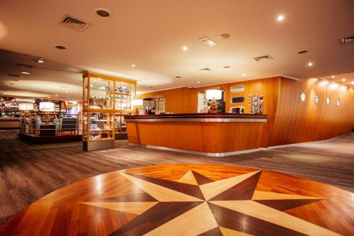 The lobby or reception area at Delta Hotel