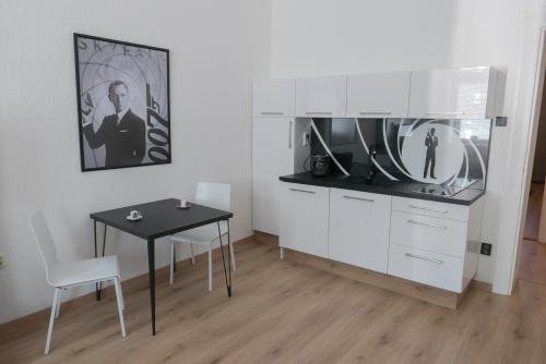 Kuchyň nebo kuchyňský kout v ubytování Apartment Belvedere