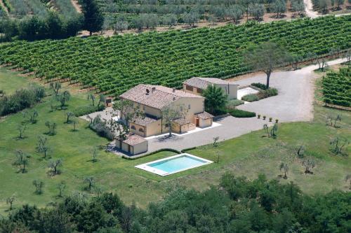 Vista aerea di Villa Pian De Noci - Tenuta del Palagio