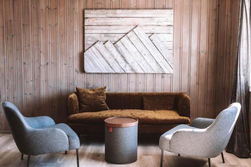 Et sittehjørne på Skårungen - Hotel, Cabins and Camping