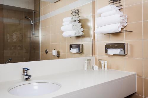 A bathroom at HÔTEL C SUITES**** chambres spacieuses, séjours thématiques
