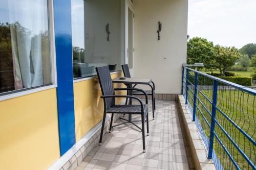 Een balkon of terras bij Vakantiehuisje Martina