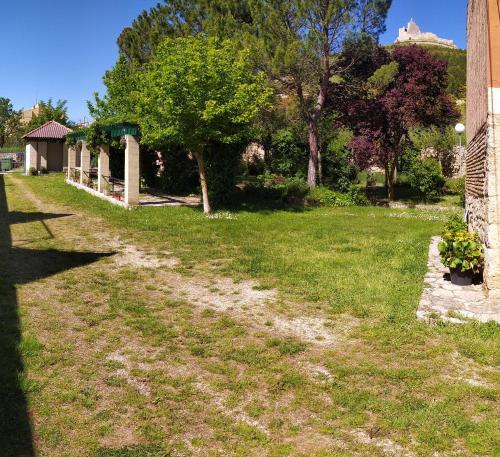 A garden outside Camino de Santiago