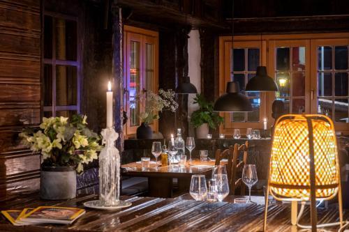 Restaurant ou autre lieu de restauration dans l'établissement Hotel de la Poste
