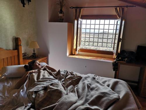 Cama o camas de una habitación en Complejo Rural Sol de Taberno