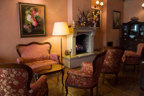Część wypoczynkowa w obiekcie Hotel Petite Fleur