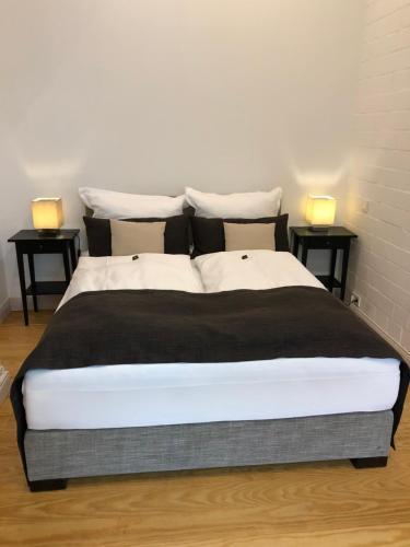 Ein Bett oder Betten in einem Zimmer der Unterkunft Bielenberg 37