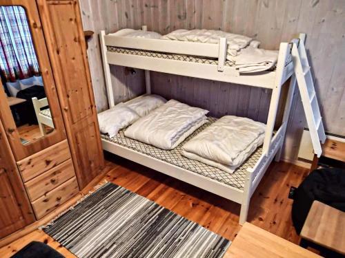 Ein Etagenbett oder Etagenbetten in einem Zimmer der Unterkunft Sinnes Fjellstue Apartment 1F